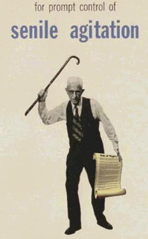 Old, senile constitution